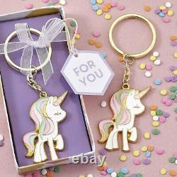 100 Adorable Unicorn Design Keychain Baby Shower Baby Birthday Party Gift Favors