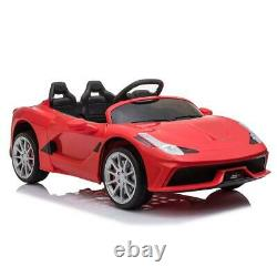 12V Kids Ride On Car Electric RC Toys Childs Birthday Gift Red with Remote Control