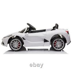 12V Kids Ride On Car Electric Toys Childs Birthday Gift White with Remote Control