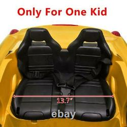 12V Kids Ride On Car Electric Toys Childs Birthday Gift Yellow with Remote Control