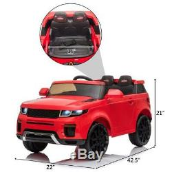 12V Kids Ride On Car Truck Electric Toy Birthday Gift Red with Remote Control