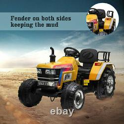 12V Kids Ride On Tractor Electric Car Birthday Gift with Remote Control 3 speeds