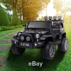 12V Kids Ride On Truck Car SUV RC Remote Control withLED Lights MP3 Birthday Gift