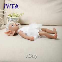 15'' Fairy Silicone Reborn Baby GIRL Alive Silicone Doll Infant Birthday Gift