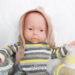 16 Silicone Rebirth Baby Boy Doll Baby+Clothes Children Playmate Birthday Gifts