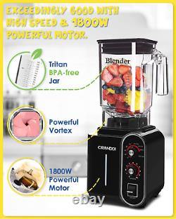 1800w Power Professional Blender Commercial High Speed Smoothie Shakes Baby Food