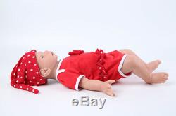 19 Full Solid Silicone Reborn Baby Girl Dolls for Festival Gift Birthday Gift