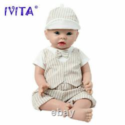 19 Silicone Reborn Baby Doll Lovely Smile Girl Accompany Birthday Gifts 3700g