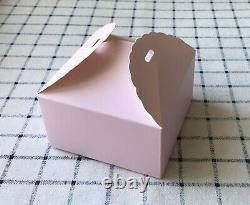 200x Pink Favour Boxes Birthday Party Wedding Girl Baby Shower Gift cake Boxes