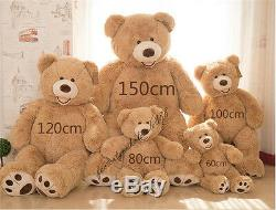 2019 Giant Hung USA Teddy Bear Plush Animals Soft Toy Doll Baby Birthday Gift us