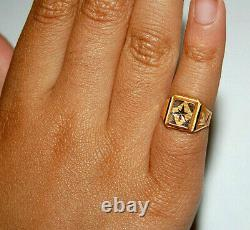 21K Solid Yellow Gold Ring New Born Baby Shower Child Kid Birthday Gift Band