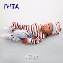 21 Silicone Rebirth Baby Doll Girl Playmate Toys Baby+Clothes Birthday Gift