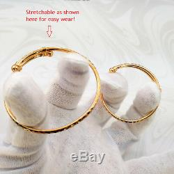 22K Yellow Gold Baby Kid Bangle Bracelet (Pair) 1.65 TRADITIONAL BIRTHDAY GIFT