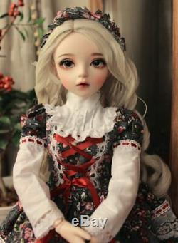 24 BJD Doll Ball Jointed Toys + Full Set Outfit Pretty Children Birthday Gift