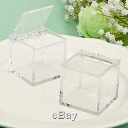 250 Acrylic Cube Candy Box Wedding Bridal Shower Birthday Party Gift Favors
