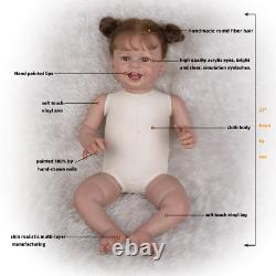27 Inch Newbron Happy Smile Reborn Baby Doll Toys For Kids Birthday Gifts