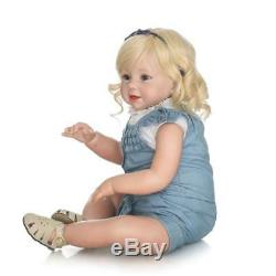 28'' Toddler Reborn Baby Doll Toy Silicone Lifelike Lovely Girls Birthday Gifts