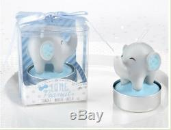 48 Little Peanut Blue Elephant Candles Baby Shower Birthday Party Gift Favors