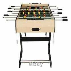 4FT Indoor Folding Foosball Table Kids Soccer Game Christmas Birthday Gift Toy