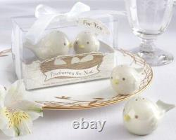 60 Feathering the Nest Bird Salt & Pepper Shakers Baby Shower Party Gift Favors