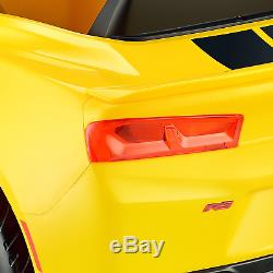 6V Kids Camaro Rs One Seater Ride On Car Electric Toy KIDS Birthday Gift YELLOW