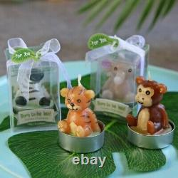 96 Born to be Wild Jungle Animal Candles Baby Shower Birthday Party Gift Favors