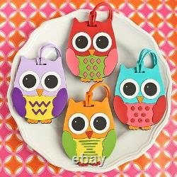 96 Owl Luggage Tags Four Assorted Colors Baby Shower Birthday Party Gift Favors