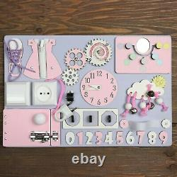 Activity board for toddler busy board for 1 year old first birthday gift