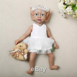 Birthday Gift 15 Realistic Silicone Nice Elf Doll Toddler Girl Baby+Clothes