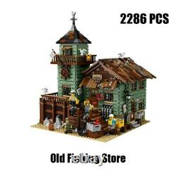 Building Blocks The Old Fishing Store 16050 MOC Set for Kids Birthday Toys Gifts