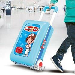 Children Kids House Doctors Toys Changeable Trolleys Suitcase Boys Birthday Gift