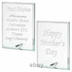 Engraved Glass Plaque Personalised Mum Mummy Mothers Day Birthday Gift
