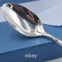 Fine S999 Silver Spoon Man Woman Household Round Handle Dinner Spoon 43g Gift