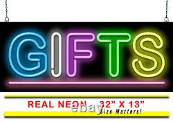 Gifts Neon Sign Jantec 32 x 13 Party Birthday Store Shop Kids Fun Colors