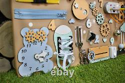 Hot Price Busy Board Montessori Toy Toddler gift for 1st Birthday Activity Board