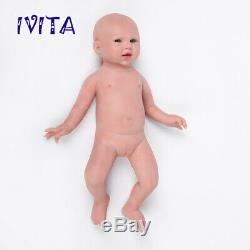 IVITA 19'' Full Silicone Reborn Doll Realistic Baby GIRL 3600g Birthday Gift Toy