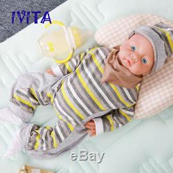 IVITA 20'' Full Silicone Reborn Doll Realistic Baby Girl Toy 3200g Birthday Gift