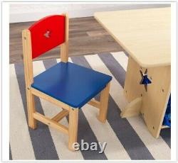 Kids Activity Table Chairs Set Boys Play Room Furniture Kids Birthday Xmas Gift