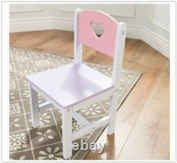 Kids Activity Table Chairs Set Girls Play Room Furniture Kids Birthday Xmas Gift