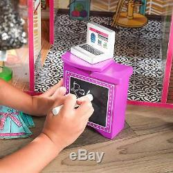 Kids Pretend To Play Large Play House Dollhouse Toy Set For Girls Birthday Gift