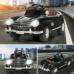 Kids Ride On Car Mercedes 300SL Electric Toy Girls Birthday Gift Black With RC