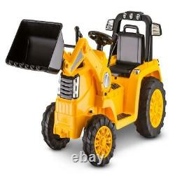Kids Ride On Tractor Bull Dozer Digger Toy Birthday Gift Rechargeable Realistic