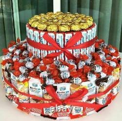 Kinder Cake, Birthday Gift, Gift for Kids and Adults, 2 storey Cake, Candy Cake