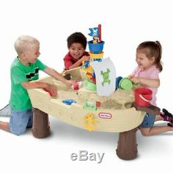 Little Tikes Anchors Away Pirate Ship Water Table Playset Outdoor Birthday Gift