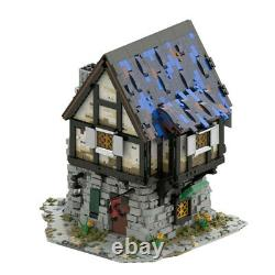 MOC The Medieval Smithy Old Country House Building Block Brick Kid Birthday Gift
