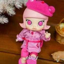 Molly X Pink Panther BJD Doll Action Figure Birthday Gift POP MART New Kid Toy