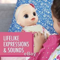 NEW Baby Alive Real As Can Be Baby Blonde 80+ Response Realistic Birthday Gift