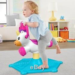 NEW Fisher Price Toddler Bounce & Spin Unicorn Learning Playset Birthday Gift