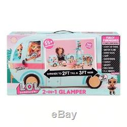 NEW LOL Surprise 2in1 Glamper Playset Fashion Camper 55+ Surprise Birthday Gift