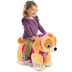 NEW Paw Patrol Skye 6V Plush Battery Powered Ride On Rechargeable Birthday Gift